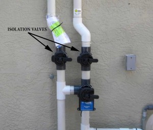 Solar Pool Heat Isolation Valves