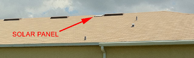 Solar attic fans in southwest florida can be installed for Off ridge vents