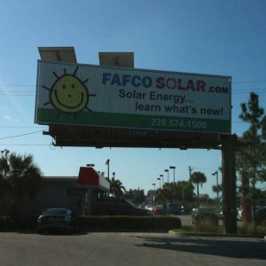 Fafco Solar Billboard with Solar Panels