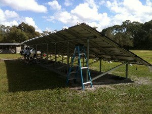 Alva Solar Rack2 300x225 Progress on Alva, FL Photovoltaic System