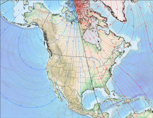 DeclinationMap NorthAmerica 300x232 Orientation of Solar Panels to True North in Southwest Florida
