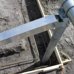 Solar Ground Rack Footing Detail