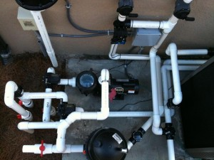 SPH Plumbing 300x225 Solar Pool Heat Plumbing With Heat Pump and Spa
