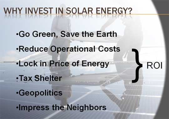 Why Invest in Solar Energy?