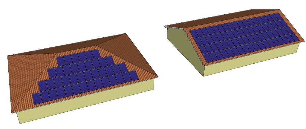 How many solar panels can i fit on my home 39 s roof solar for Hip or gable roof