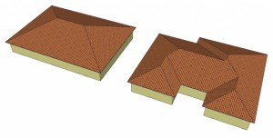 Two Solar Home Roofs with Very Different Solar Capacity