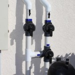 Solar Pool Heat Valves Closed (Isolated)