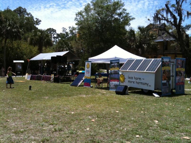 Estero, FL - Fafco Solar Powers the Earth Day Stage