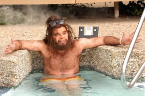 geico caveman relaxing solar pool heat 300x199 Mars and Venus are Both in this Solar [Energy] System