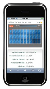 Solar Energy iPhone App Monitoring System Enphase